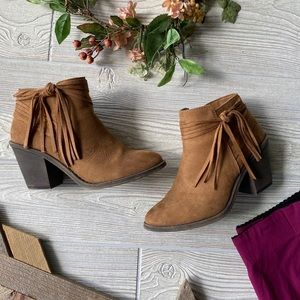 TIME AND TRU   Tassel Ankle Boots